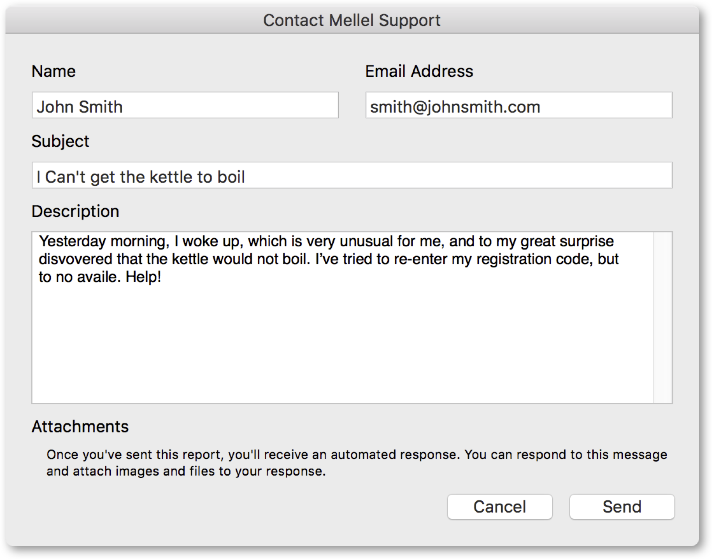Contacting Mellel Support